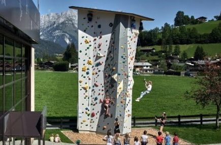 Single mit Kind Aktivurlaub Reith Kitzbühel Kletterwand